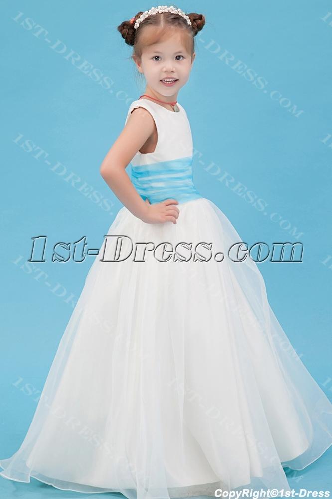 Floor Length Blue New Style Mini Wedding Dress:1st-dress.com
