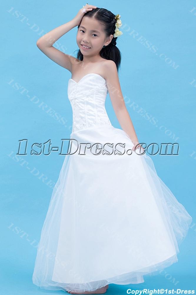 a2057da9163ef Gorgeous Long Mini Wedding Dress for Kids:1st-dress.com