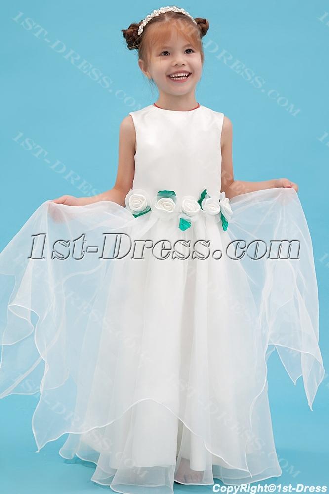 Green floor length wonderful dress flower girl dresses1st dress green floor length wonderful dress flower girl dresses loading zoom mightylinksfo