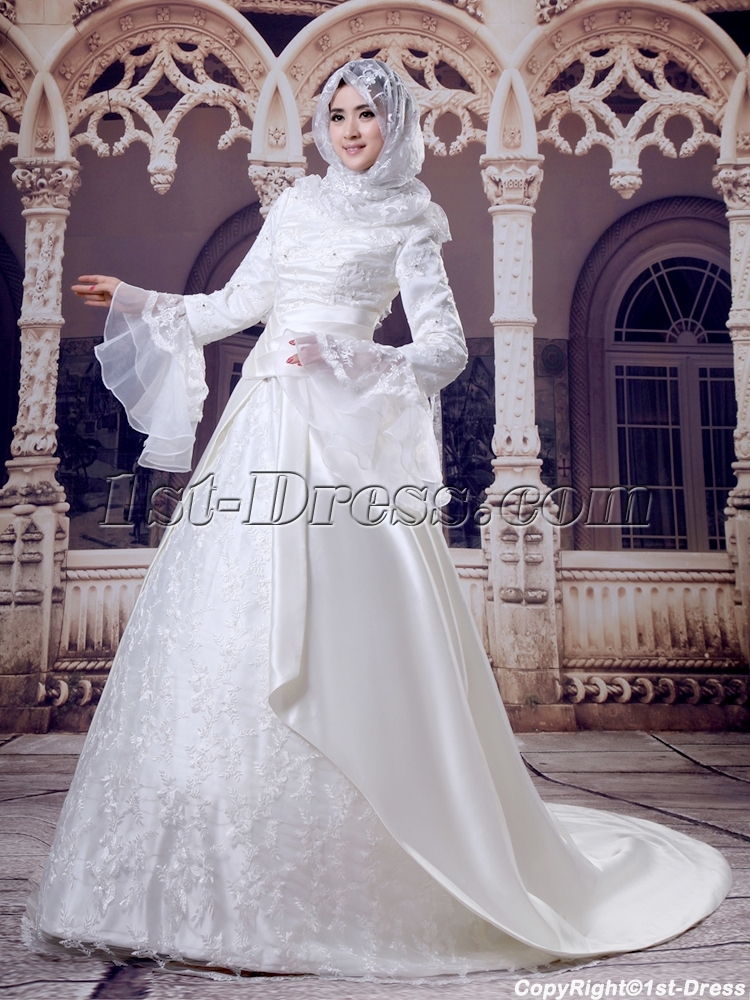 images/201308/big/Ivory-Hijab-Wedding-Dress-with-Trumpet-Sleeves-2669-b-1-1376060519.jpg