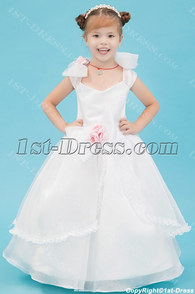 Ivory Princess Toddler Flower Girl Dress