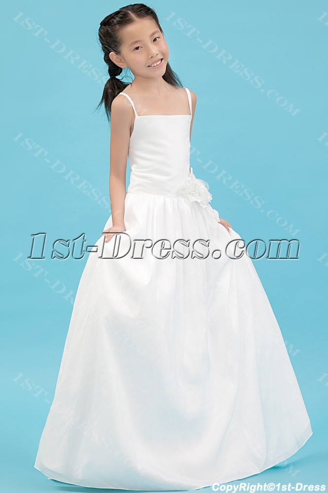 Ivory straps simple formal mini wedding dress 1st for Simple ivory wedding dresses