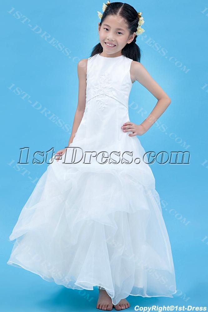 Gt cheap girl party dresses gt long cheap flower girl dress modest