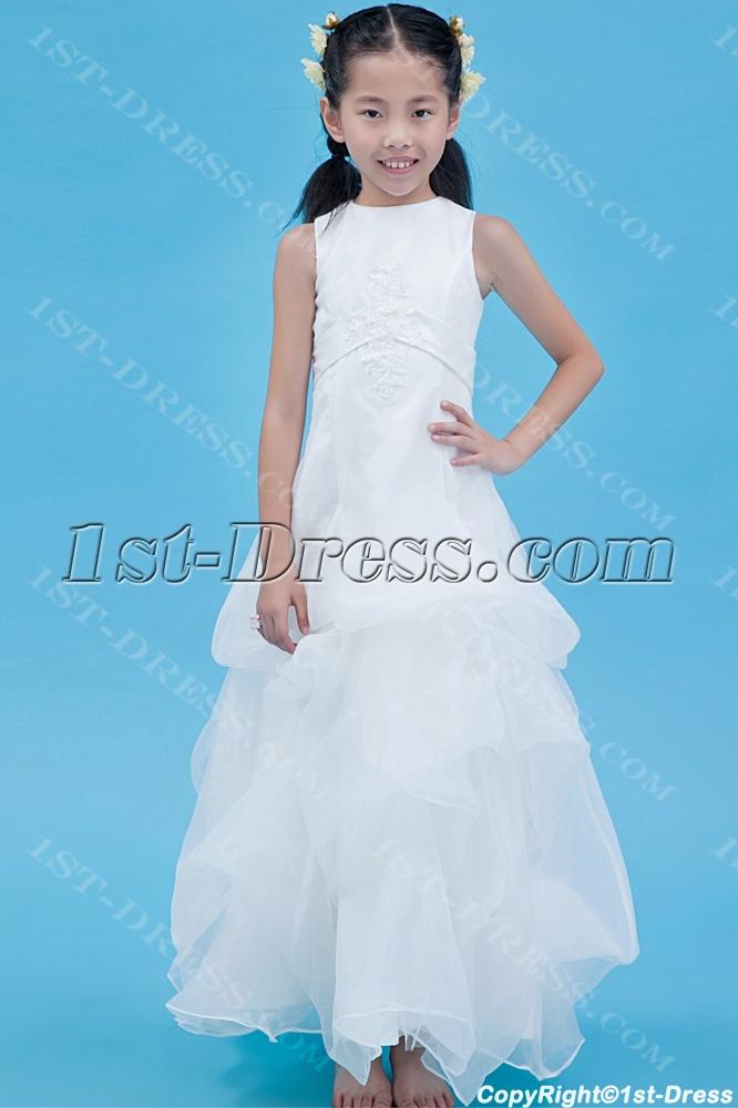 52d6d8e9216 Long Cheap Flower Girl Dress Modest 1st-dress.com
