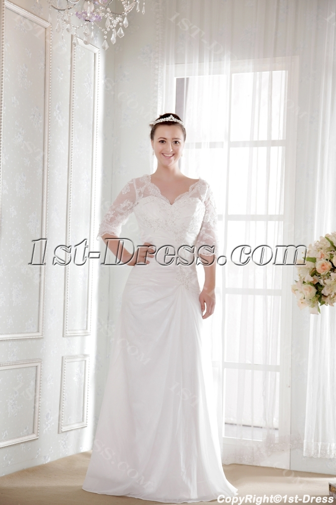 images/201308/big/Modest-Bridal-Gown-for-Older-Lady-with-Lace-Sleeves-2524-b-1-1375436183.jpg
