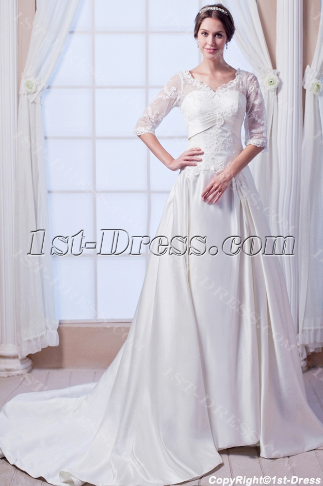 images/201308/big/Modest-Formal-Lace-Bridal-Gown-with-Middle-Length-Sleeves-2685-b-1-1376315716.jpg
