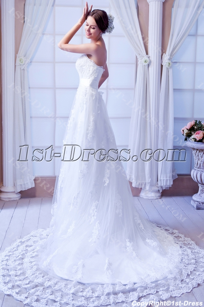 images/201308/big/Perfect-Strapless-Lace-Wedding-Gowns-with-Train-2691-b-1-1376320673.jpg