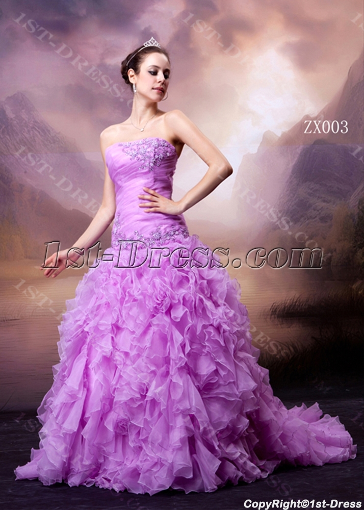 Princess Lilac Sweet 16 Dress With Drop Waist 1st Dress Com