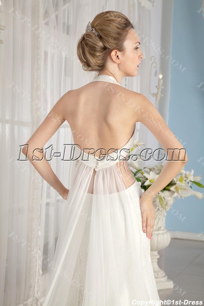 Sheath Halter Sexy Lace Summer Wedding Dress1st Dress