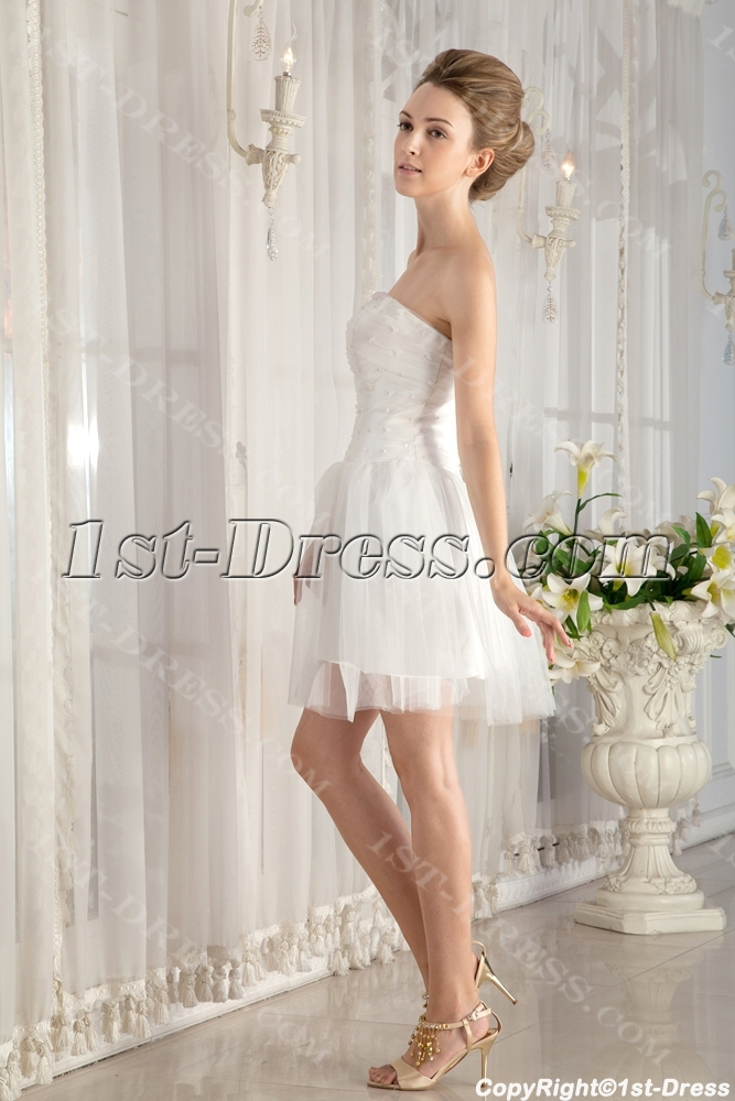 Simple Mini Summer Wedding Dress Under 1001st