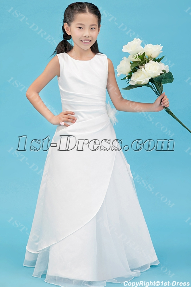 91771fb3d069 Traditional Ivory Mini Wedding Dress for Flower Girl:1st-dress.com