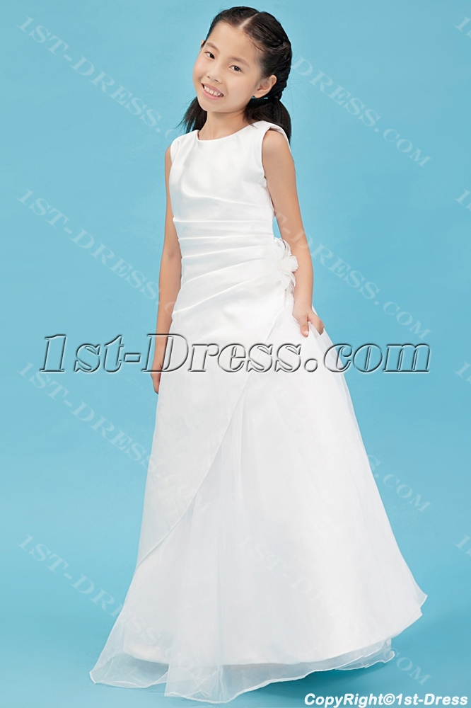 7d5e65d39ecc Traditional Ivory Mini Wedding Dress for Flower Girl (Free Shipping)