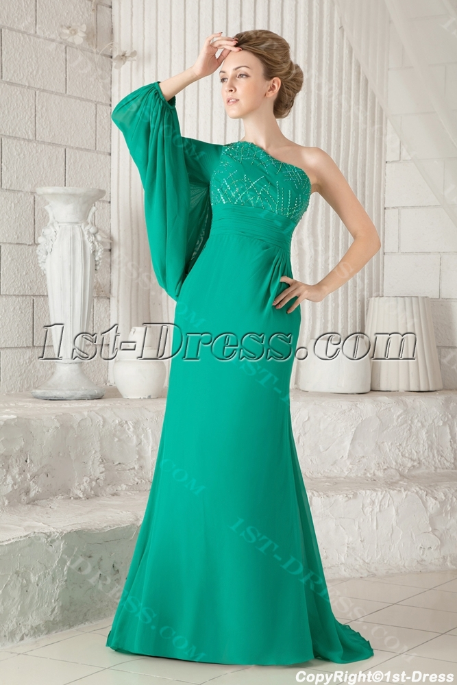 images/201308/big/Unique-Hunter-Green-Long-Sleeves-One-Shoulder-Evening-Dresses-2013-2756-b-1-1377868940.jpg