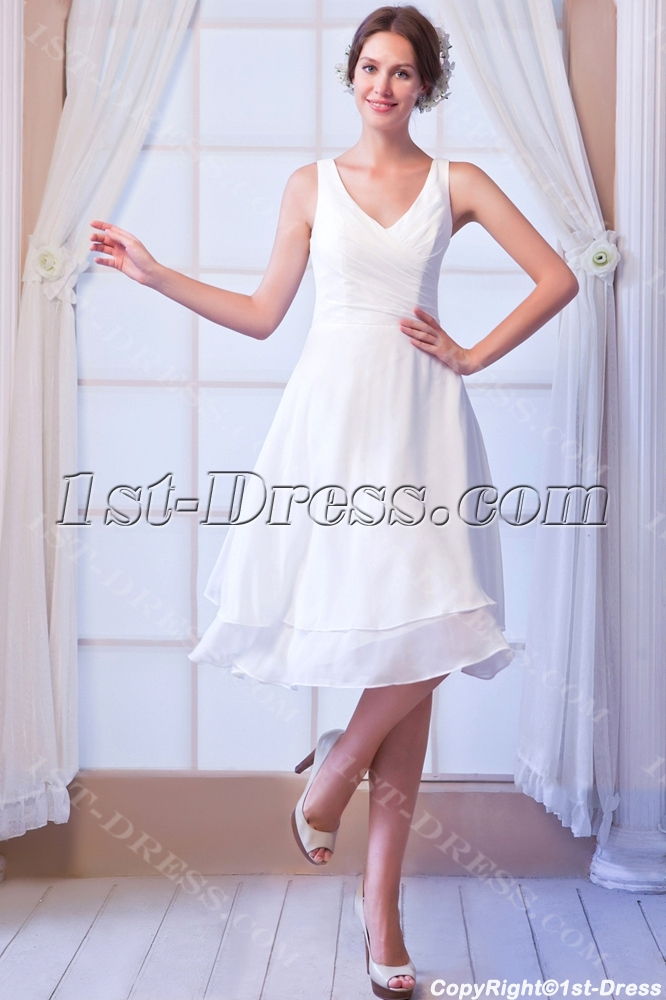 V Neckline Short Wedding Dresses Under 1001st Dress