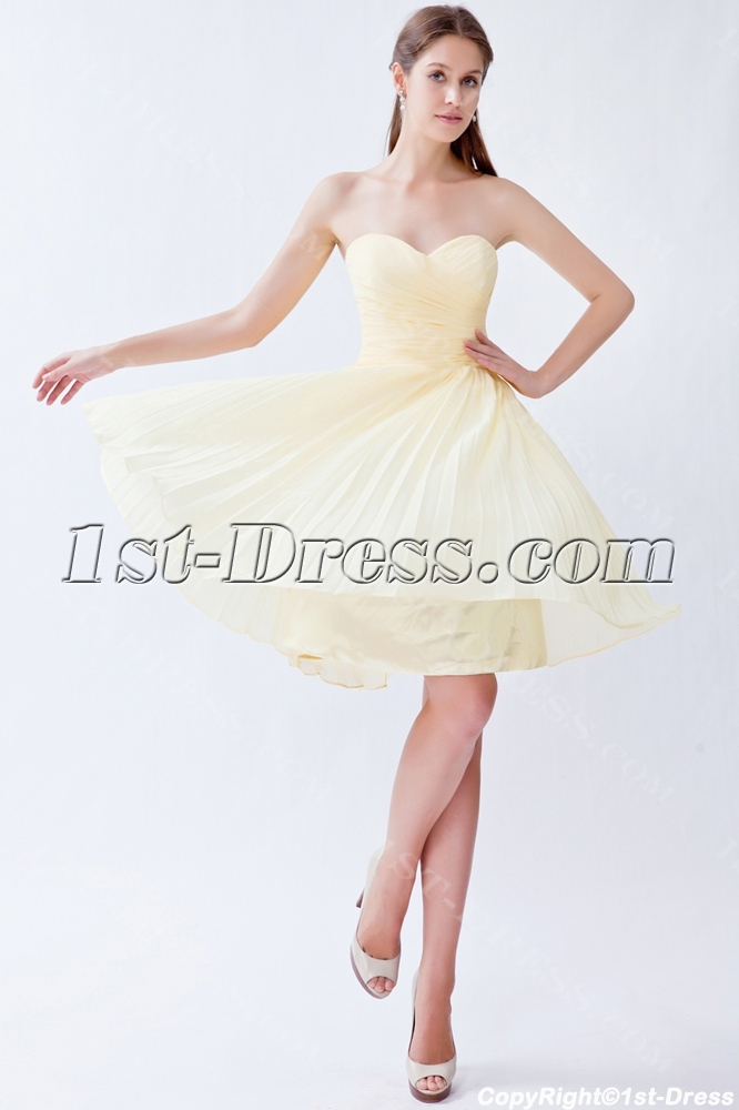 Yellow Chiffon Bridesmaid Dresses