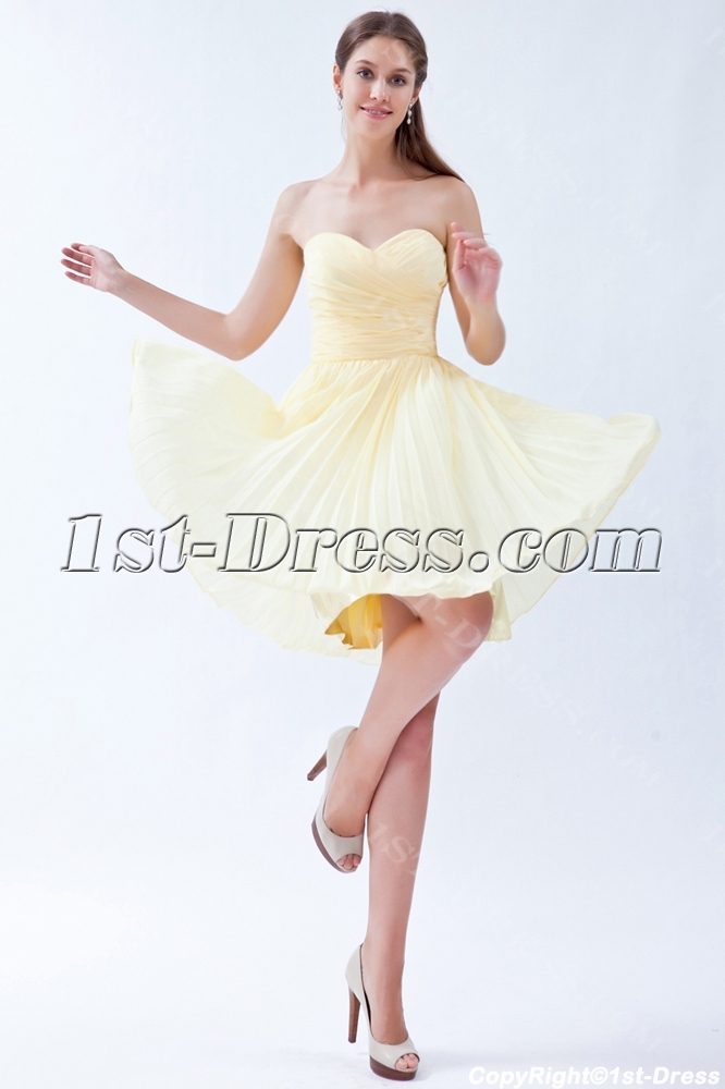 cb1dc25cf4a Yellow Chiffon Bridesmaid Dresses under 100 Dollars (Free Shipping)