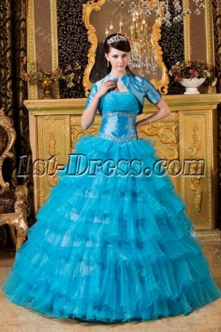 Aqua Color Quinceanera Dresses 2013 with Jackets