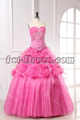 Basque Plus Size Quinceanera Ball Gown Dresses