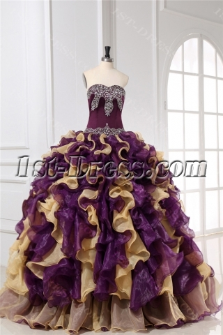 Beaded Pretty Colorful Quinceanera Dresses