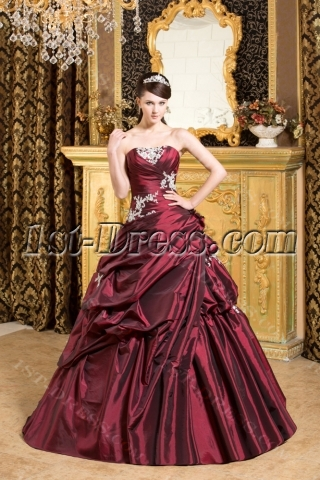 Burgundy Exclusive 2013 Quinceanera Dress Fall