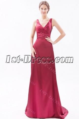 Burgundy Formal Evening Dresses for Petite Women