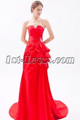 Charming Red Sheath Homecoming Dresses