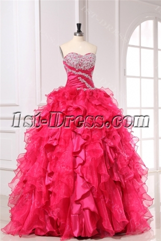 Chic 2013 Ruffle Quinceanera Dresses with Sweetheart