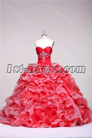 Cinderella Colorful Puffy Quinceańera Gown