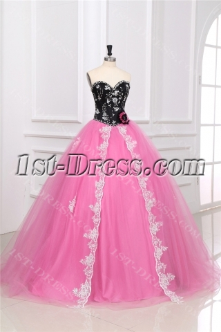 Colorful Unique Masquerade Ball Gown Dress