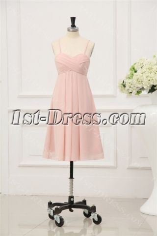 Coral Short Chiffon Cocktail Dress for Juniors