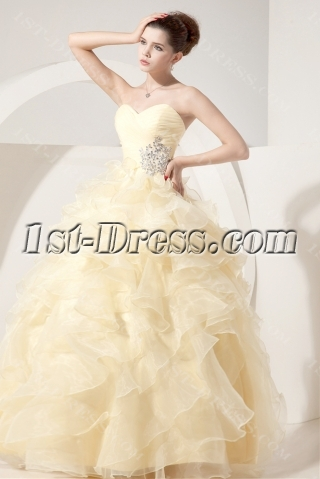 Daffodil Yellow Best Quince Dress with Sweetheart