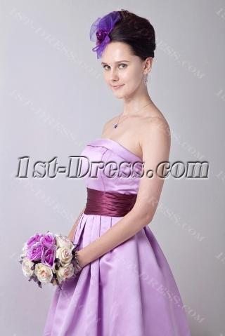 Exquisite Strapless Lavender Short Junior Bridesmaid Gowns