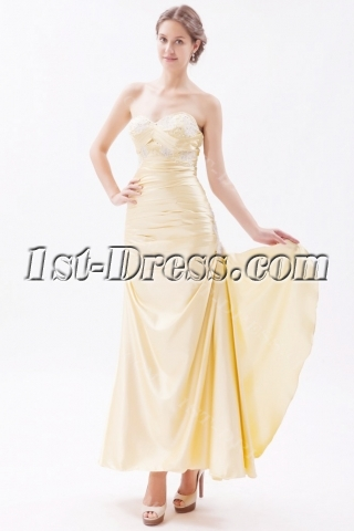 Flowers Champagne Sheath Graduation Gown