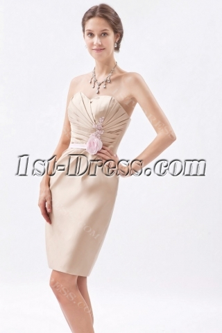 Glamorous Champagne Formal Evening Dress with Sweetheart