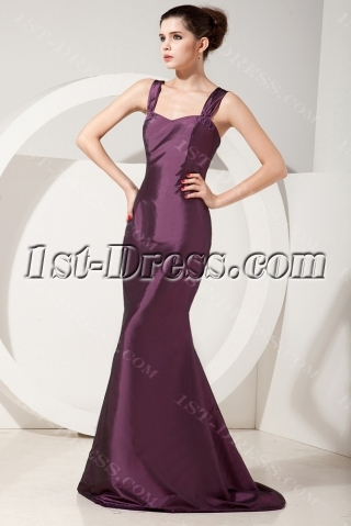 Grape 3/4 Long Sleeves Long Mother of Groom Gowns with Jacket