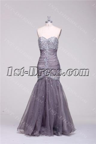 Gray Curves Sheath Mermaid Pretty Prom Dresses