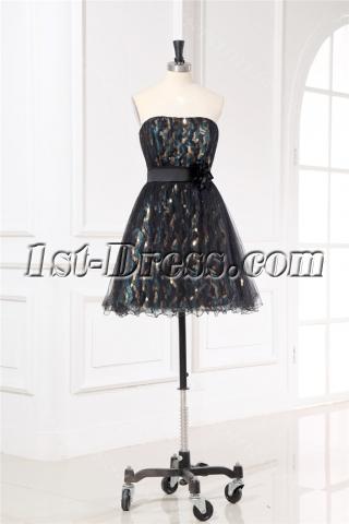 Juniors Little Black Cocktail Dresses with Sequins