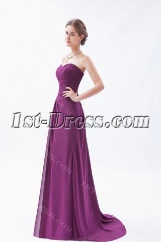 Long Sweetheart A-line Grape Purple Evening Dress Plus Size