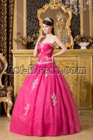 Modern Fuchsia Long Bat Mitzvah Ball Gown Dresses