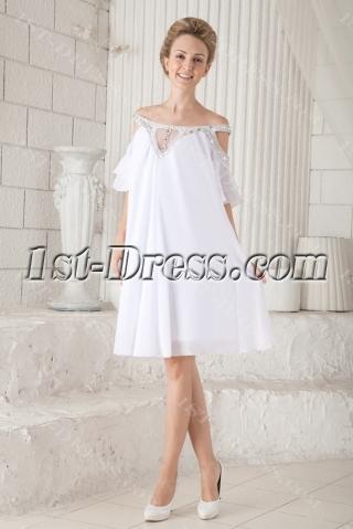 Off Shoulder Casual Short Bridal Gowns for Summer