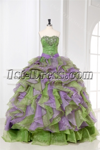Pretty Colorful Quinceanera Dresses with Sweetheart
