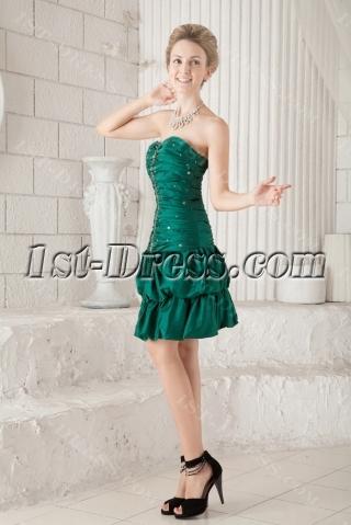 Pretty Dark Green Sweet 16 Dress