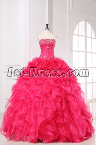 Pretty Ruffled 2014 Quinceanera Dresses