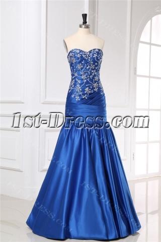 Royal Blue Long Mermaid Trumpet Prom Dresses