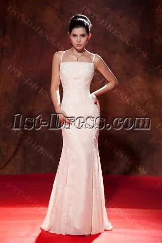 Spaghetti Straps Ivory Engagement Dresses for Bride