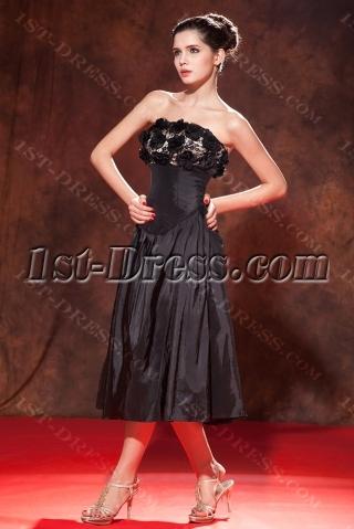 Sweet Tea Length Little Black Dress for Plus Size