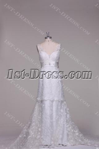 Vintage Couture Wedding Dresses with V-back