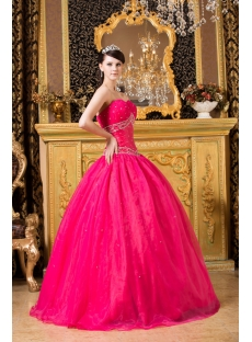 2012 Fuchsia Bat Mitzvah Ball Gown Dress