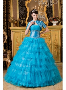 Aqua Color Quinceanera Dresses 2013 with Jackets