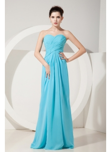 Aqua Empire Sweetheart Floor-Length Chiffon Plus Size Bridesmaid Dress